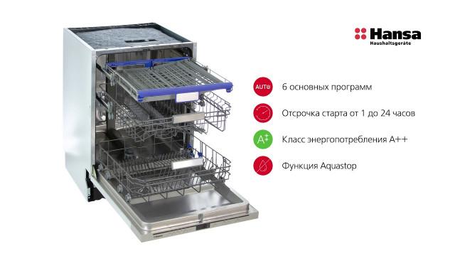 Встраиваемая посудомоечная машина Hansa ZIM686SEH - delonghi.ru – видео 2