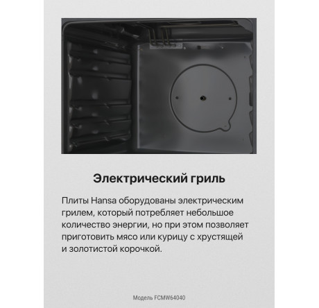 Газовая плита Hansa FCMW64040 Белый - hansa.ru – фото 5