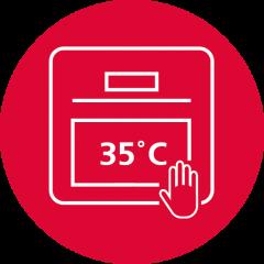 Холодная дверца 35°C