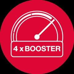 Функция Booster на всех 4 зонах